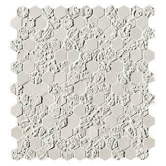 Fap Bloom Керамическая плитка 30,5x30,5см., для ванной, настенная, мозаика, цвет: esagono white