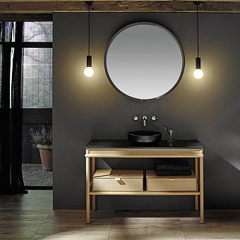 Burgbad Mya Комплект напольной мебели 120x50x79 см, дуб натуральный, столешница с раковиной черные