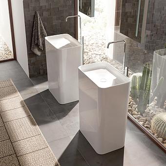 BETTE Art Monolith Раковина 60х40х90 см, без отв., напольная, цвет: белый