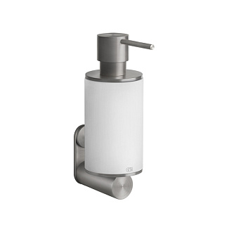 Gessi 316 Дозатор для жидкого мыла настенный, цвет: шлифованная сталь/белый