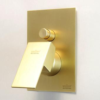 Webert Pegaso Смеситель для душа, встраиваемый, с переключателем на 2 потока, цвет: матовое золото