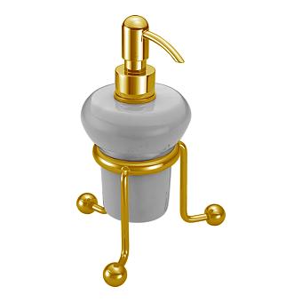 CISAL Arcana Дозатор настольный керамический, цвет белый/золото