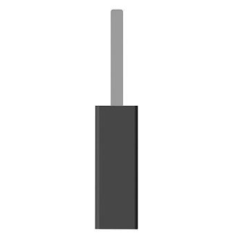 Bertocci Fly Ерш напольный из композита, цвет: черный матовый/хром