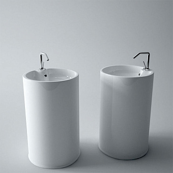 SIMAS Top e lavabi d'arredo Раковина напольная цилиндрическая 51х83,5см с 1 отв-м пробитым вручную, белая