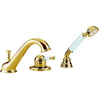 CISAL Arcana Empress Смеситель на борт ванны на 3 отверстия, цвет золото
