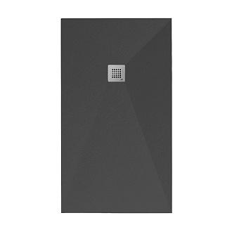 Noken Slate Душевой поддон 140x80см, Mineral Stone, цвет: чёрный