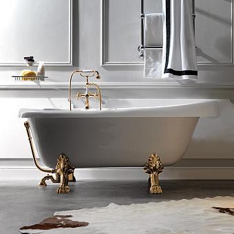 KERASAN Retro Ванна new 170х77/66см, глубина ванны 44,5см, цвет белый, ножки золото