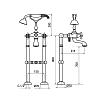 Смеситель для ванны Webert Ottocento OT720801 Бронза/белый