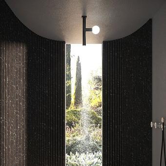 Antonio Lupi Apollo Верхний душ Ø45 мм., с LED подсветкой, потолочный монтаж, цвет: черный матовый