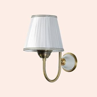 TW Harmony 029, настенная лампа светильника с основанием, цвет: белый/бронза, абажур на выбор