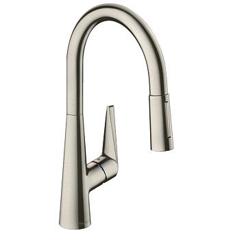 Hansgrohe Kitchen Смеситель для кухни M5116-H200, однорычажный, с выдвижным душем, сталь