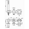 Zucchetti On Встроенный однорычажный смеситель для душа, гибкий шланг 1500 мм. цвет: хром
