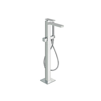 Cristina Tabula Смеситель для ванны с ручным душем, напольный, встраиваемый, цвет: хром