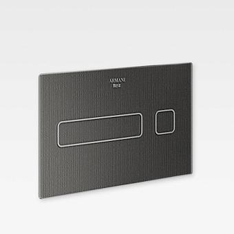 Armani Roca Baia Панель смыва электронная 25.78х0.4х16.78см, цвет: dark metallic