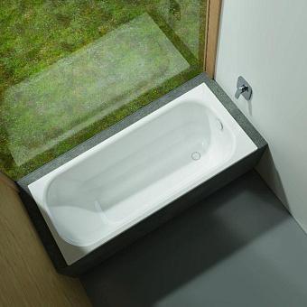 Bette Form 2020 Ванна 1600х700х420 мм, с шумоизоляцией, BetteGlasur® Plus, BetteАнтислип, цвет: белый