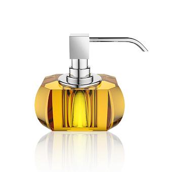Decor Walther Kristall SSP Дозатор для мыла, настольный, хрустальное стекло, цвет: янтарь / хром