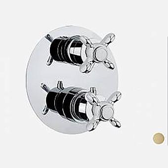 Webrt Ottocento Смеситель теромстаический для душа с внутренней частью, на 2-потока, цвет бронза