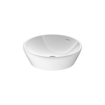 Duravit D-Neo Раковина накладная Ø40см, без перелива, без отв., цвет: белый