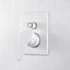 Webert Sax Evolution Смеситель для душа, встраиваемый, с девиаторм, цвет: белый матовый