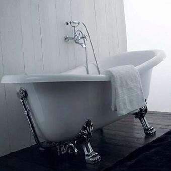 Mobili Di Castello Vasca Ванна свободностоящяя на ножках 170х80х72-64 см, белый/серебро