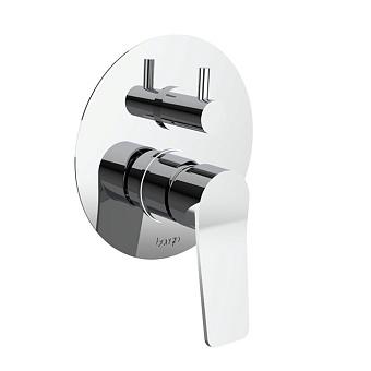 Bongio GIO2 Смеситель встроенный для душа с переключателем, 3 выхода, цвет: хром