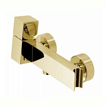 """Bossini Cube Смеситель наружный для душа с выходом на 1/2"""", цвет: золото"""