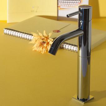 Смеситель для раковины с высоким изливом Bongio T-Square, цвет: хром