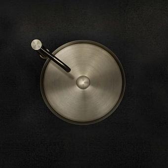 Gessi 316 Раковина 40 см, без отв., для установки на столешницу, без перелива, нержавеющая сталь, цвет: Warm bronze brushed PVD