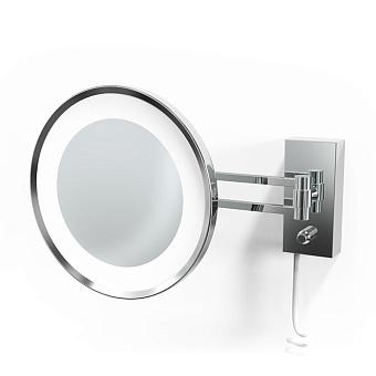 Decor Walther BS 36 LED Косметическое зеркало 22см, подвесное, увел. 3x, подсветка LED, цвет: хром