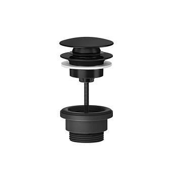 "Gessi 316 Донный клапан для раковины ""Stop&Go"", для раковин без перелива, цвет: brushed black metal pvd"