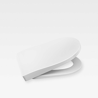 Armani Roca Baia Сиденье лакированное с механизмом плавного опускания, цвет: белый