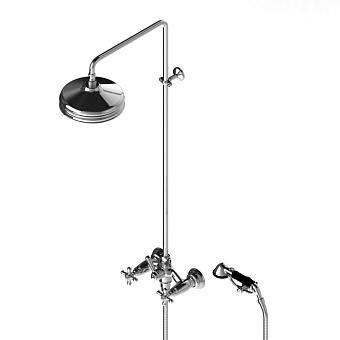 Stella Roma Душевой комплект 3284/301/314A-220: смеситель, штанга+ручной+верхний душ 220мм, цвет: хром