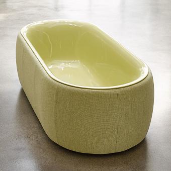 BetteLux Oval Couture Ванна напольная 185x85x45 см, с шумоизоляцией, с панелью, с текстильной обивкой, цвет: болотный