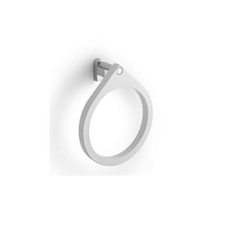 Bertocci Goccia Полотенцедержатель - кольцо из композита, цвет белый матовый/хром