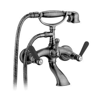 Bongio Mille Nuits Смеситель для ванны, 2 отв., цвет: хром/черный фарфор