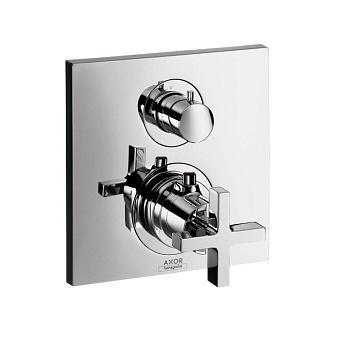 Axor Citterio, Термостат с запорным вентилем, с крестовой рукояткой, СМ, Цвет: хром