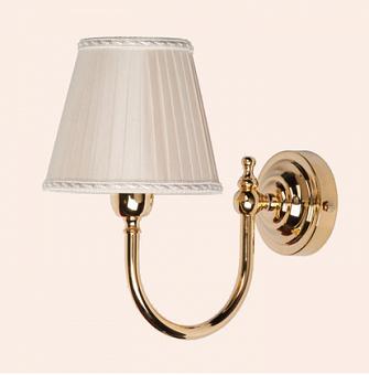 TW Bristol 029, настенная лампа светильника с круглым основанием, цвет: золото,абажур на выбор