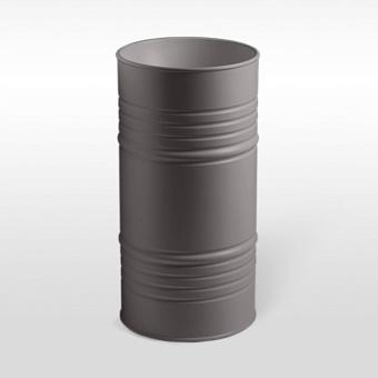 Kerasan Artwork Barrel Раковина 45х90 см, без отв., напольная, слив в пол, в комплекте сифон, цвет: Ferro matt