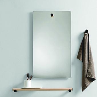 Agape Dot line Прямоугольное зеркало, 80x45см, с полированной кромкой, цвет: черный