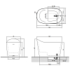 Antonio Lupi Mastello Ванна отдельностоящая 135х75хh87 см, с донным клапаном (хром), сифоном и гибким шлангом, мат-л: Flumood, цвет: Bianco