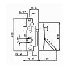 Zucchetti IsyStick Встроенный однорычажный смеситель с дивертером, цвет: хром