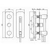Zucchetti Nude Встроенный смеситель для ванны-душа на 4 отверстия, цвет: хром