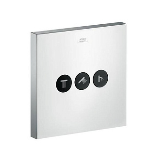 Axor ShowerSelect Модуль с тремя запорными клапанами, квадратный, цвет: хром