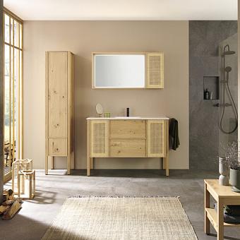 Burgbad MAX Комплект мебели 130х49х91.2см, напольный, с раковиной, с зеркалом, с 2 ящиками, цвет: Natural knotty oak