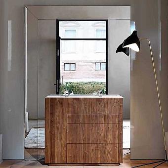 NOORTH milldue edition TOUCH Комплект мебели 100х48х88cм, напольный, 3 ящика, слив в стену, раковина Milltek, смеситель H2O, отделка Abete