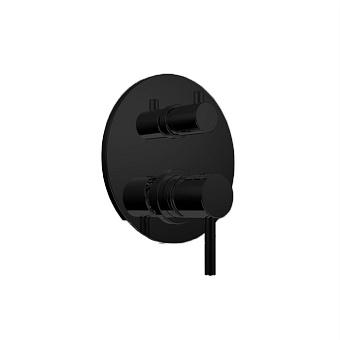 Bongio Project Встраиваемый смеситель для душа на 2 выхода, цвет: черный матовый