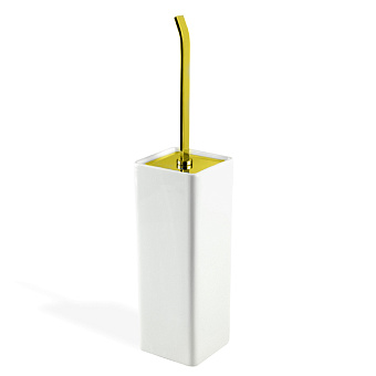Stilhaus Gea Напольный керамический ерш, цвет: золото/белая керамика