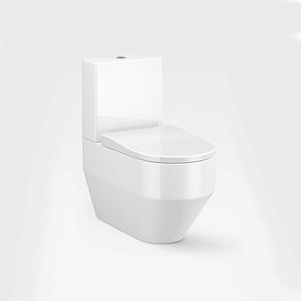 Armani Roca Baia Унитаз моноблок 56x38x41см безободковый, слив горизонтальный, цвет: белый