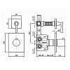 Zucchetti Agora Встроенный термостатический смеситель с 2 запорными клапанами, цвет: хром