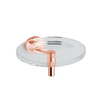 Bertocci Cinquecento Мыльница подвесная, цвет: прозрачное стекло/розовое золото